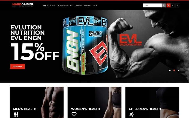 Hard Gainer - Magento motiv Responzivní obchod se sportovní výživou