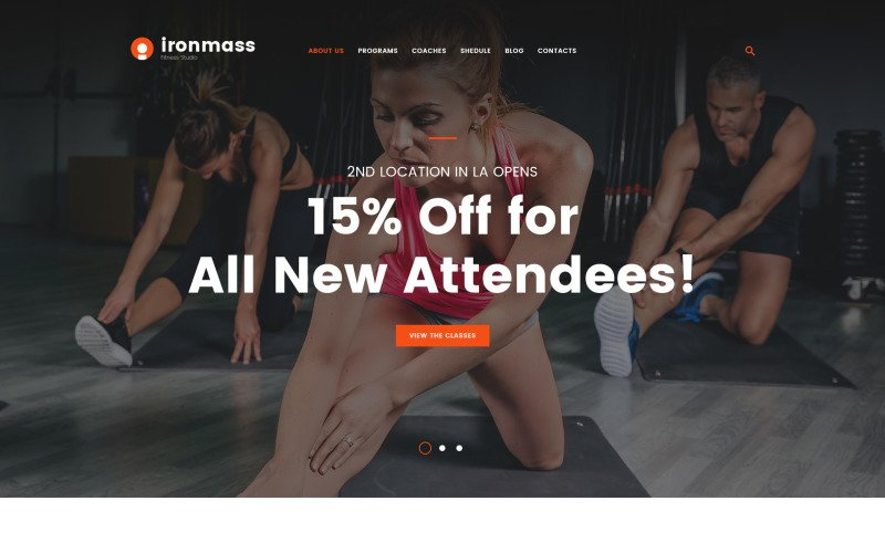 Ironmass - Website-sjabloon voor meerdere pagina's in het fitnesscentrum