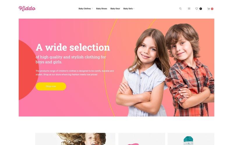 Kids Clothing Mobile-Optimized Magento Theme