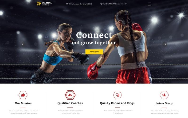 Martial Arts School Responsive Multipage Website Template