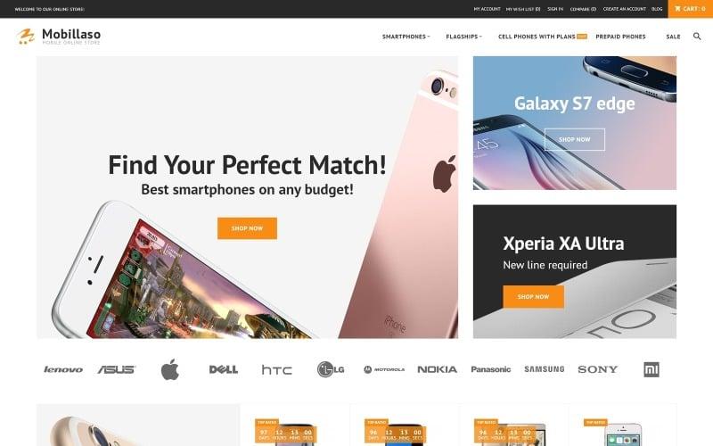 Mobillaso - адаптивная тема Magento для мобильного магазина