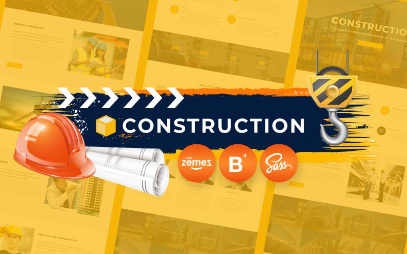Modello di sito Web HTML5 per società di costruzioni