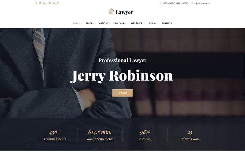 Modello di sito Web multipagina per avvocato e avvocato
