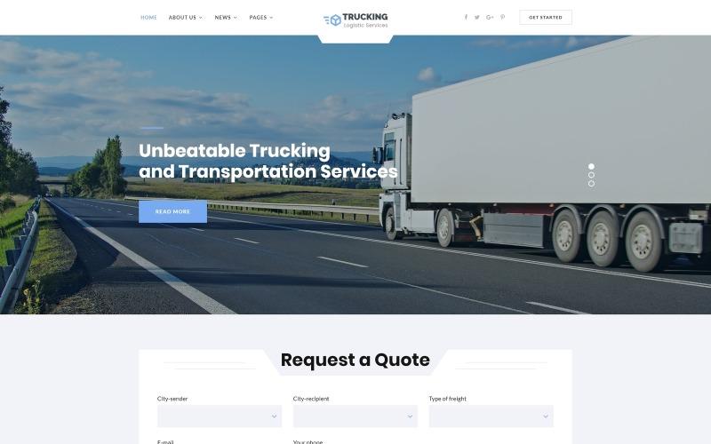 Autotrasporti - Logistica e servizi di trasporto Modello di sito web HTML