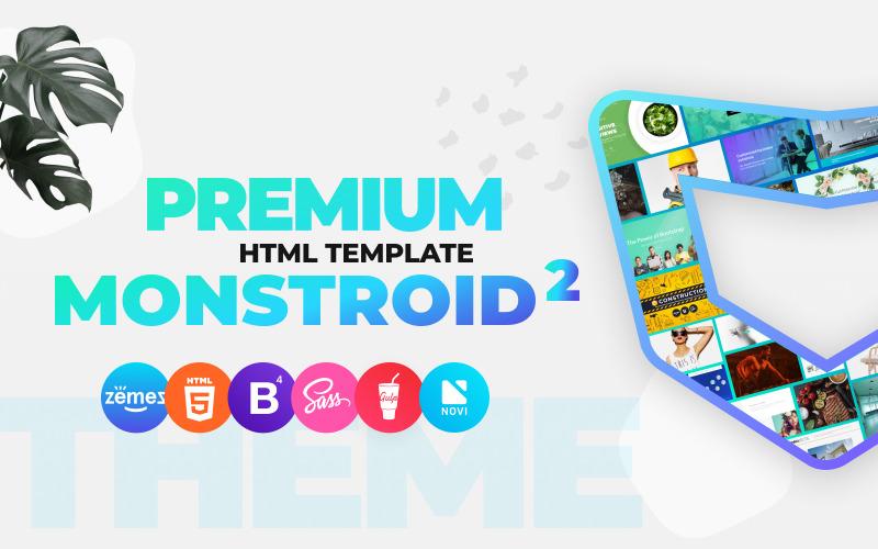 Monstroid2 - багатоцільовий преміум-шаблон веб-сайту HTML5
