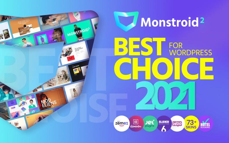 Monstroid2 - багатофункціональна модульна тема WordPress Elementor