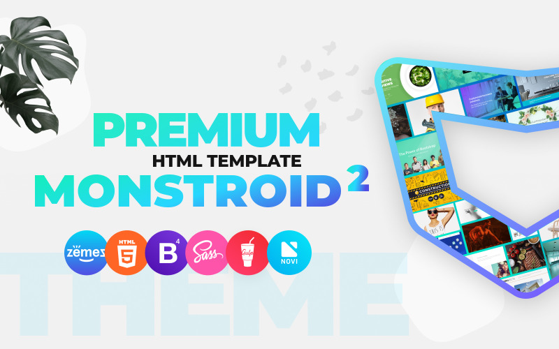 Monstroid2 - Többcélú Premium HTML5 webhelysablon