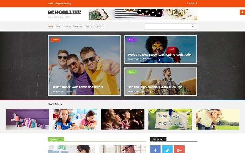 Plantilla Joomla para blog escolar