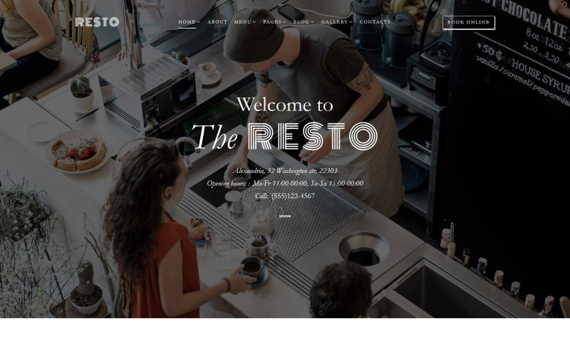 Resto - Šablona webových stránek Cafe & Restaurant