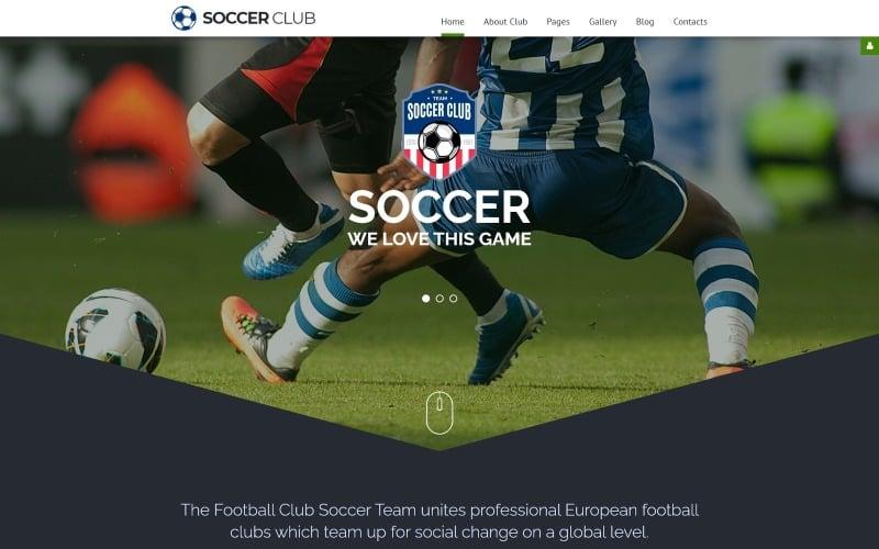 Soccer - Soccer Club Responsive Joomla Template