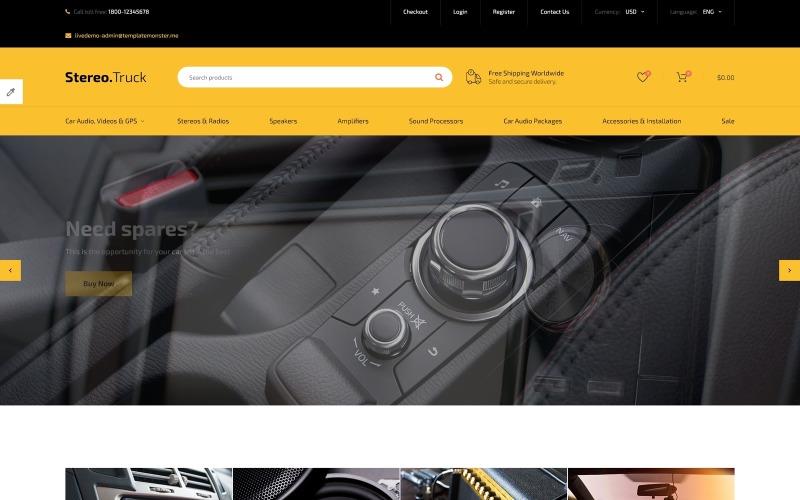 Szablon OpenCart reagujący na dźwięk samochodowy