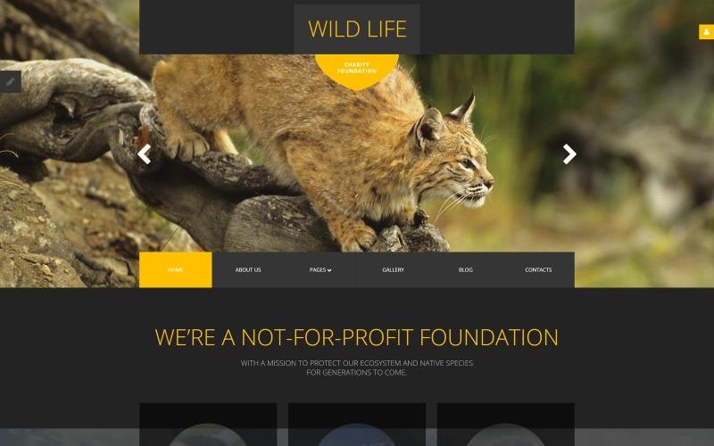 Vadon élő állatokra érzékeny Joomla sablon