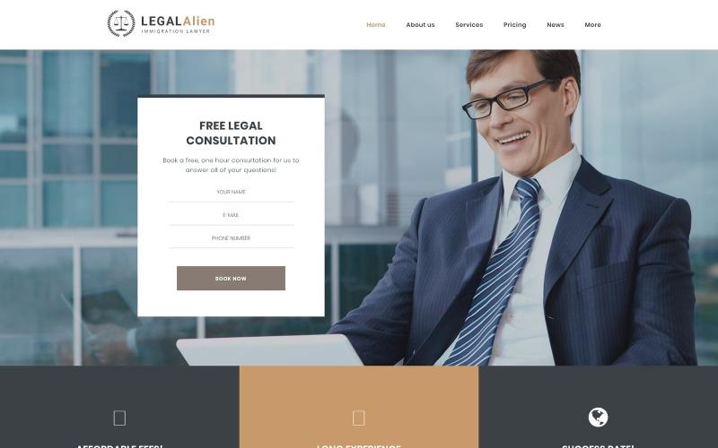 Bevándorlási ügyvéd WordPress téma
