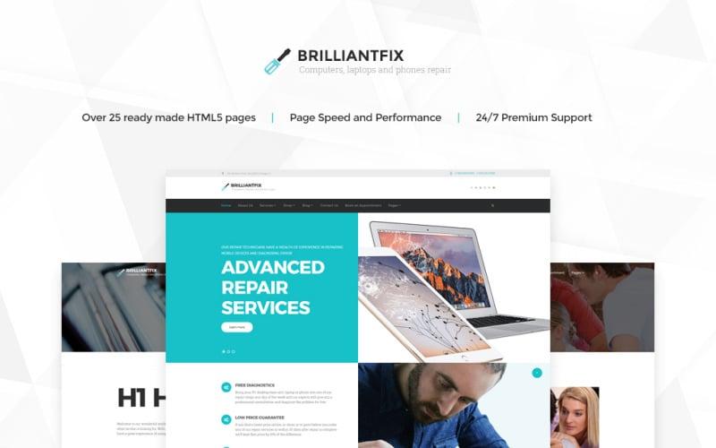 BrilliantFix - Service Center Website Template