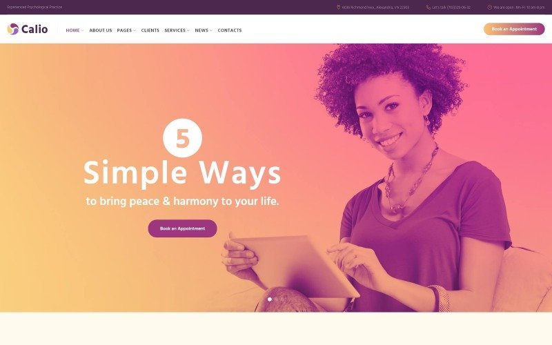 Calio - Therapy & Counselling WordPress theme