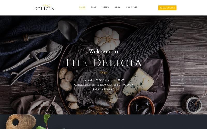 Delicia - Tema WordPress adaptable para restaurantes