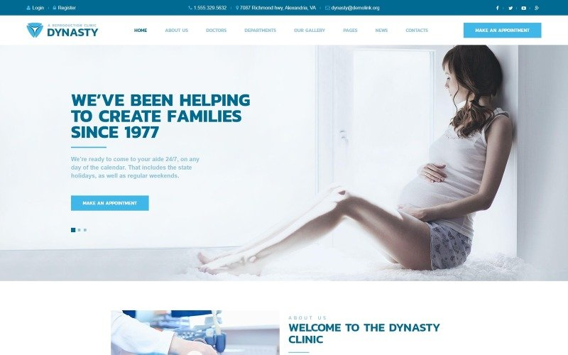 Dynasty - Reproduction Clinic Responsive WordPress Theme