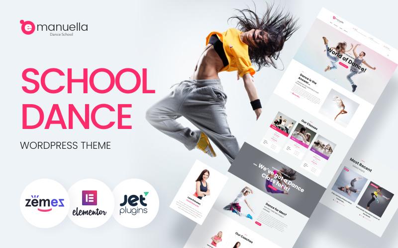 Emanuella - адаптивная тема WordPress для школы танцев