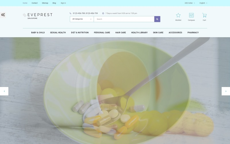 Eveprest - Drugstore PrestaShop Theme
