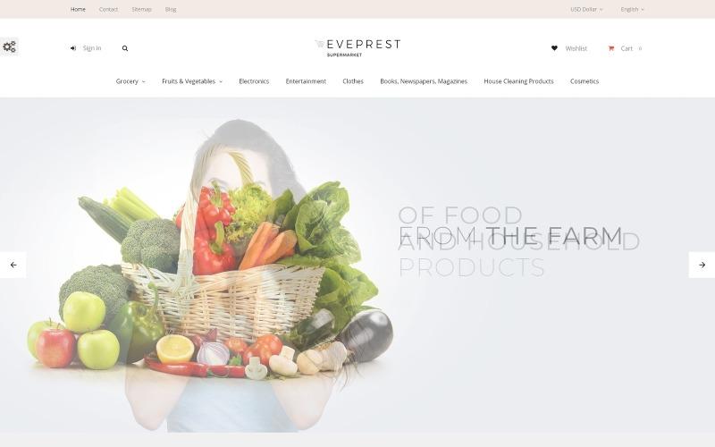 Eveprest - Tema de PrestaShop para supermercados