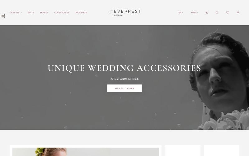 Eveprest - Wedding PrestaShop Theme