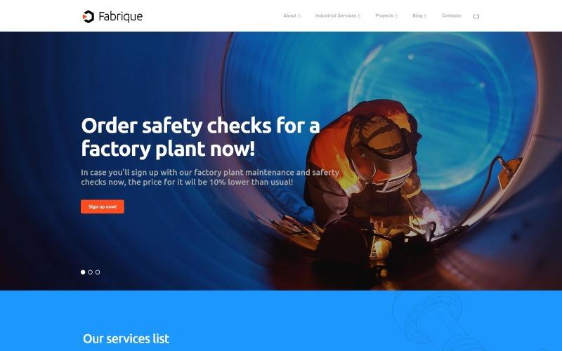 Fabrique - тема WordPress для индустрии и инженерного искусства