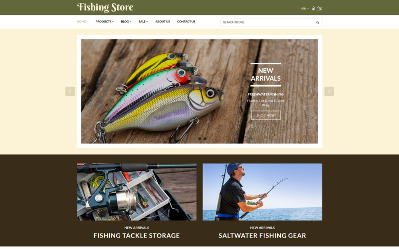 Fishing Store - Fishing Supplies & Equipment Shopify Theme
