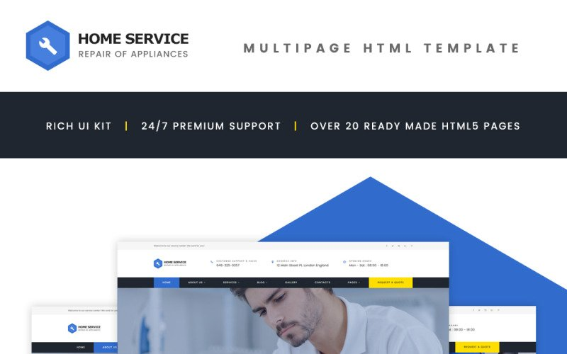 Home Appliance Repair Service Multipage Website Template