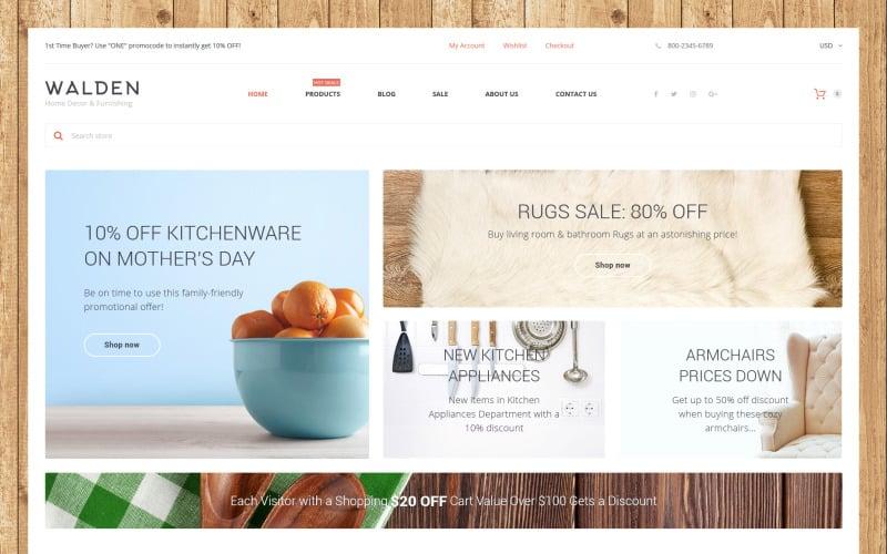 Home Decor & Furnishing Online Supermarket Shopify Theme