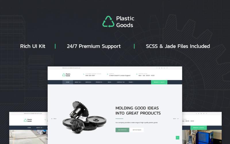 Műanyag termékek - üzleti többoldalas webhelysablon