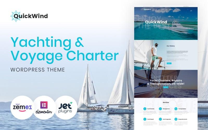 QuickWind - WordPress Yacht Charter Theme