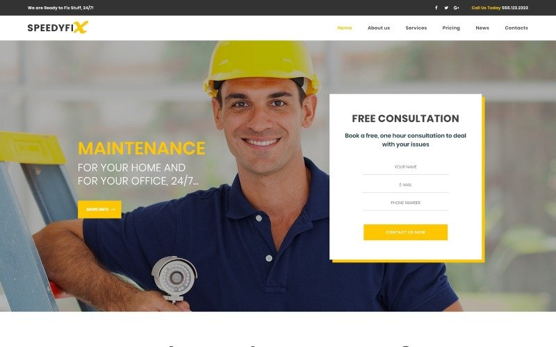 SpeedyFix - Handyman Services WordPress Theme