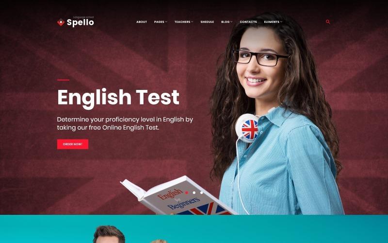 Spello - motyw WordPress dla szkół językowych