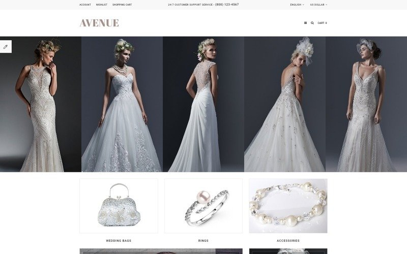 Wedding Responsive OpenCart Template