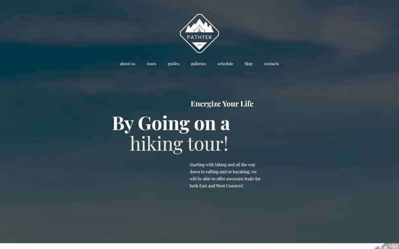 WordPress тема для пеших походов и кемпингов