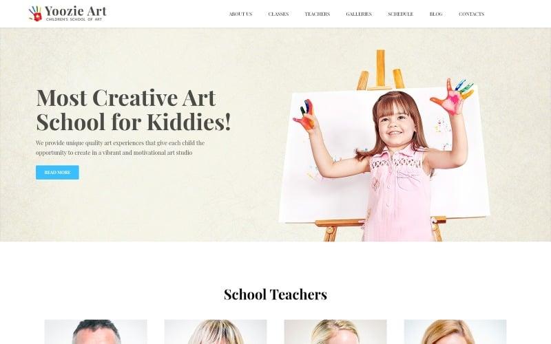 Yoozie - tema de WordPress para la escuela de arte infantil