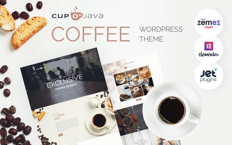 Cup o Java - Coffee Shop Responsive WordPress Theme
