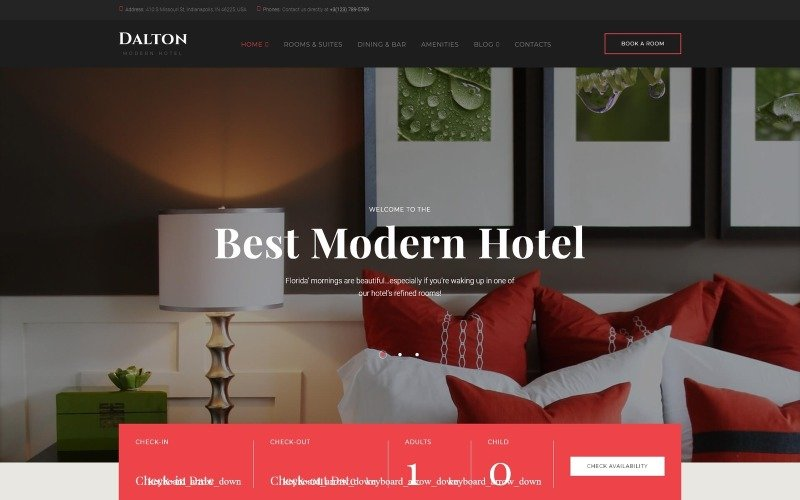 Dalton - Modern Hotel & Resort WordPress Theme