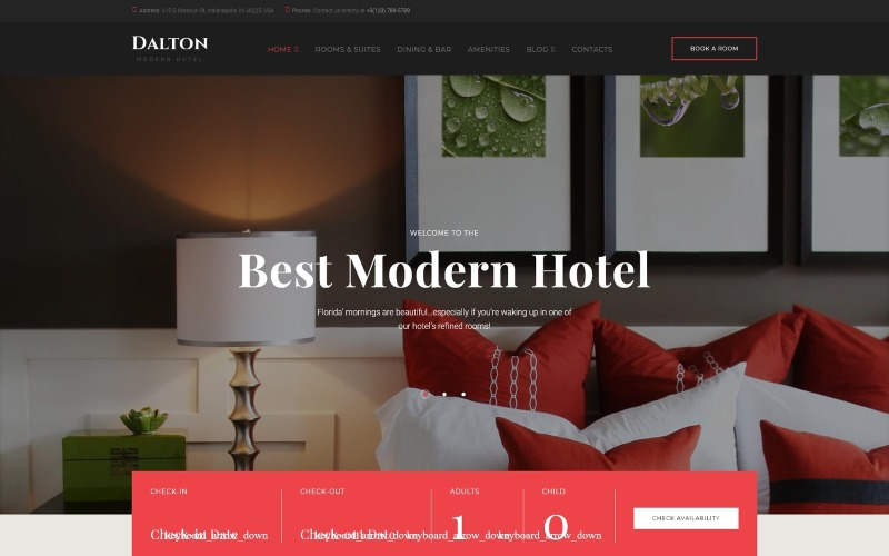 Dalton - Tema WordPress moderno per hotel e resort