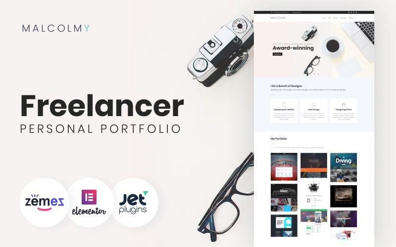 MalcolmY - Professional and Good-Looking Web Design Portfolio Templates