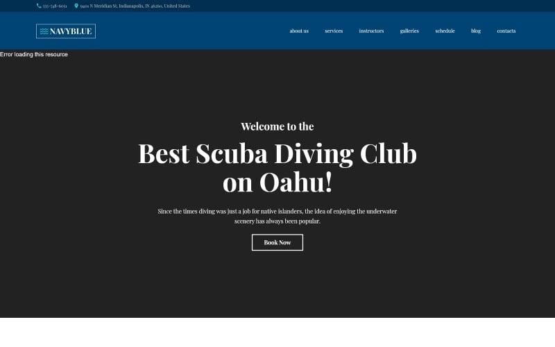 NavyBlue - Scuba Diving Club Responsive WordPress Theme