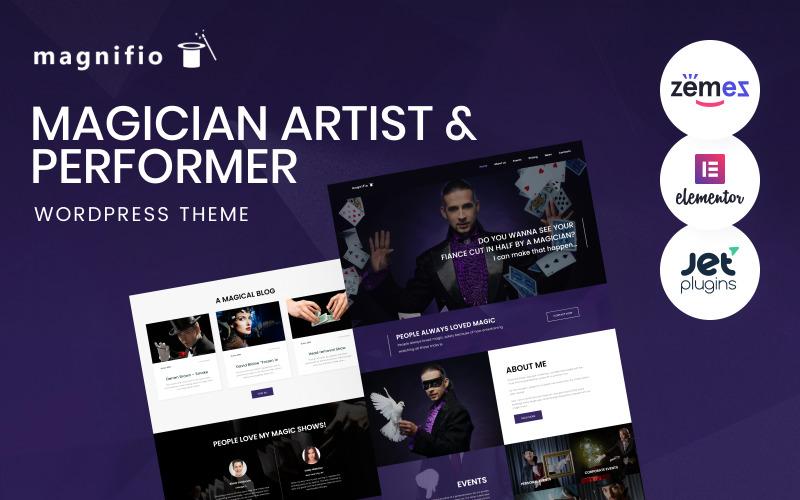Sihirbaz Sanatçı ve Sanatçı WordPress Teması - Magnifio WordPress Teması