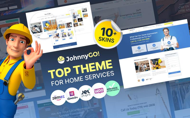 JohnnyGo - WordPress-tema för multifunktionella hemmetjänster
