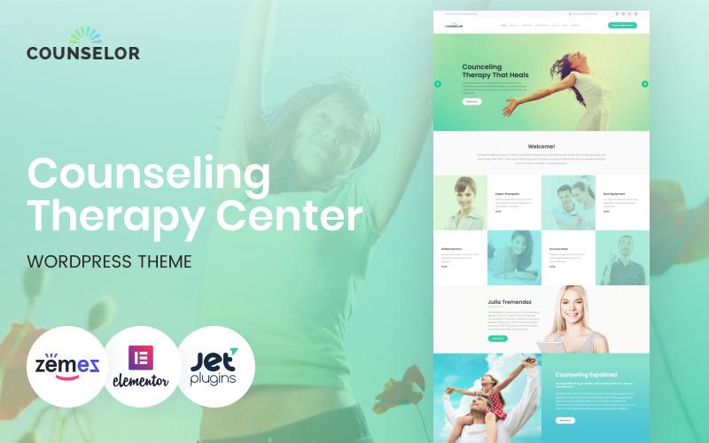 Consejero - Centro de terapia de asesoramiento Tema adaptable de WordPress