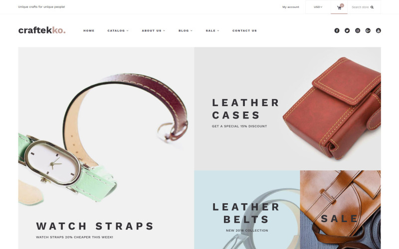 Craftekko - Handbag Responsive Shopify Theme