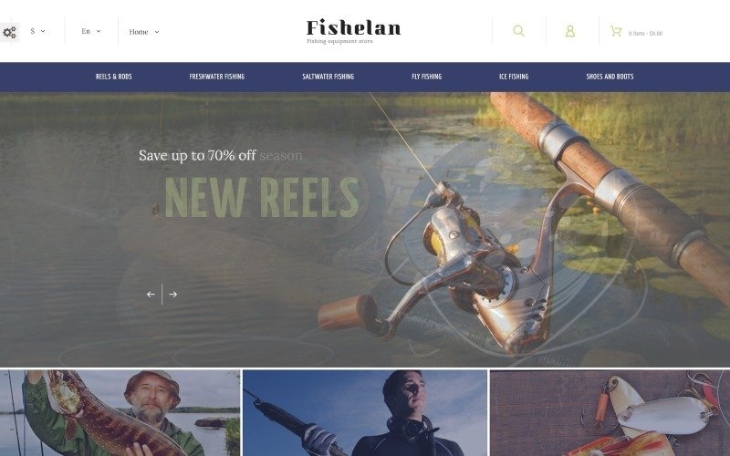 Fishelan - Fishing Equipment PrestaShop Theme