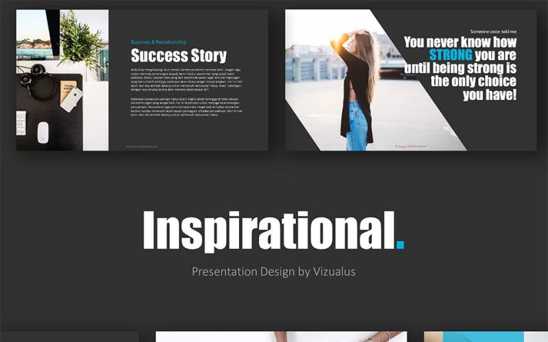 Inspirujący szablon PowerPoint