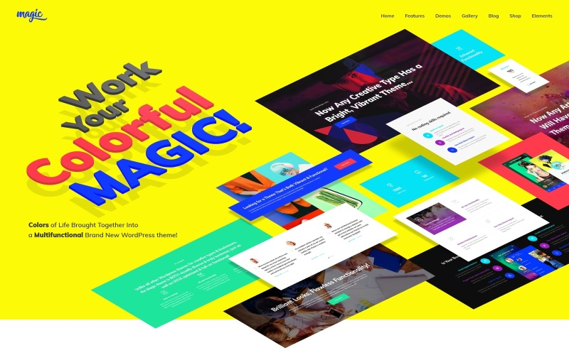 Magic - Tema WordPress Criativo Multiuso