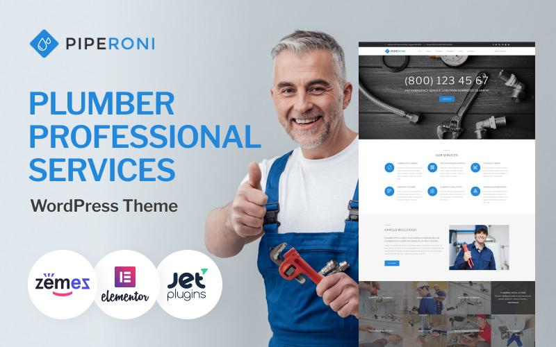 Piperoni - тема WordPress для сантехников и ремонтных служб