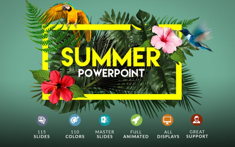 Summer | Powerpoint + Bonus PowerPoint Template